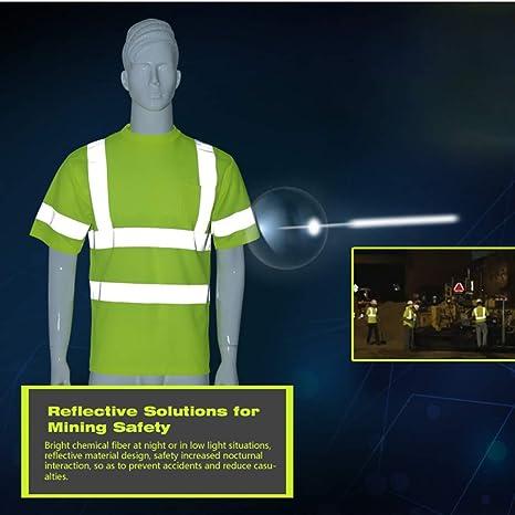 Vertvie Unisex Gilet de S/écurit/é Gilet de Travail T-Shirt Manche Courte Veste de Haute Visibilit/é avec Bandes R/éfl/échissantes pour V/élo Moto Marche Jogging L, Gilet Orange