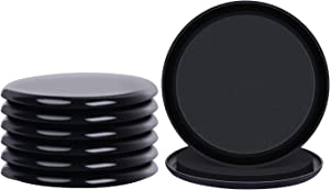 8 Pack 5 Inch Furniture Sliders and Reusable Glides for Carpet,Moving Heavy Furniture Quickly and Easily with Furniture Mover (Black)