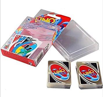 YunLuo UNO Juego de Cartas 108 PCS Impermeable H2O UNO PVC ...