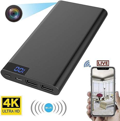 FiveSky - Cámara espía Oculta WiFi Mini DV HD 4K, detección de ...