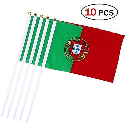 Naisicatar Portugal Bandera de Mano DE 5,5 x 8,3 Bandera Pequeña de
