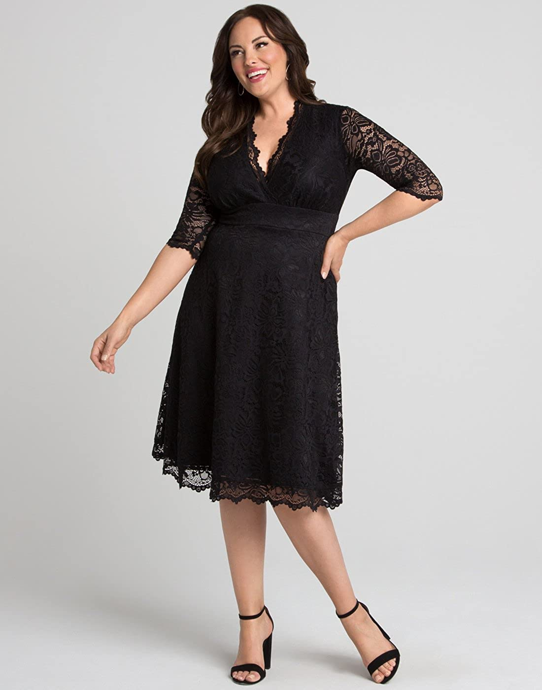 37ee2503b79 Amazon.com  Kiyonna Women s Mademoiselle Lace Dress  Clothing