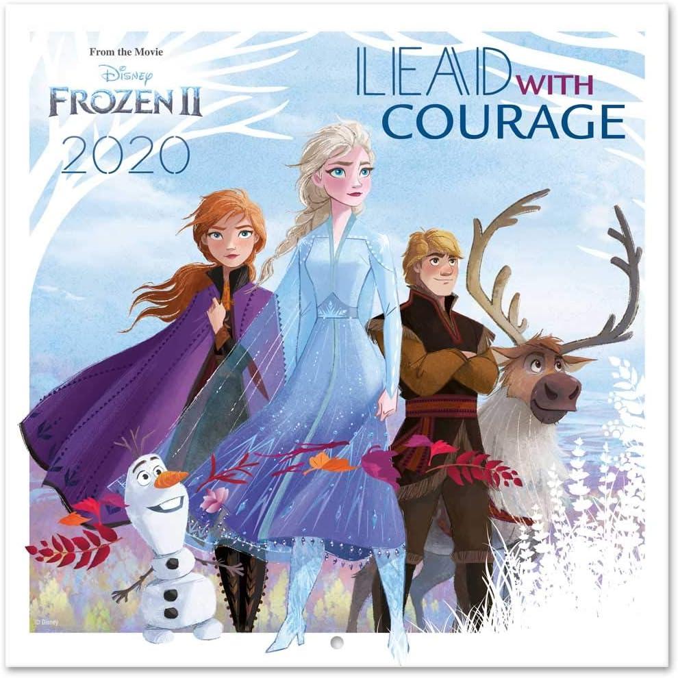 ERIK - Frozen 2 2020 Wall Calendar (Free Poster Included), 12 Months, 30 x 30cm