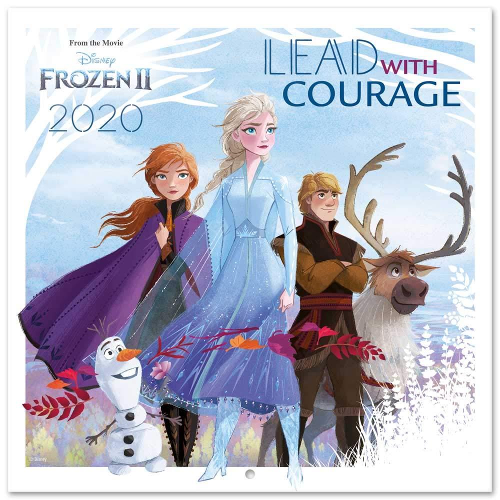 ideale per casa o ufficio 30x30 cm Frozen 2 Erik/® Disney Calendario annuale 2020 da muro