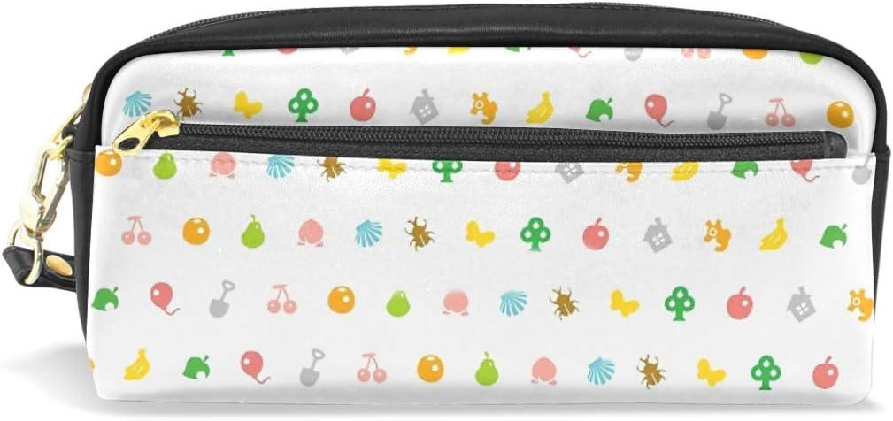 Estuche de gran capacidad y bolsa de piel sintética para bolígrafos, diseño de animales de cruce HHD con cremallera para suministros de papelería, bolsa de maquillaje para niñas y niños: Amazon.es: Oficina