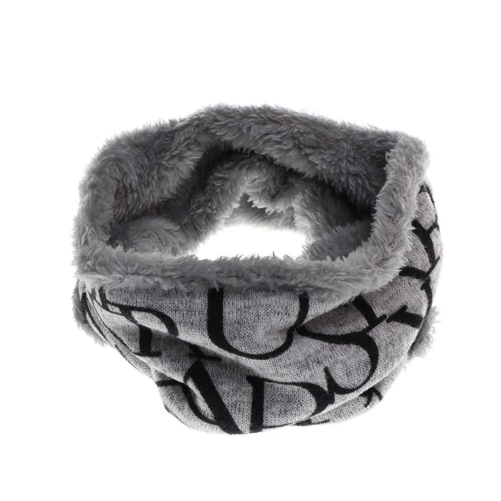 Bambini Inverno Infinity Sciarpa in pile foderato scaldacollo doppio strato in maglia morbida spessa sciarpa