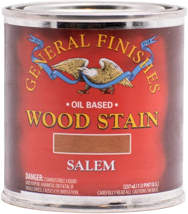 General Finishes Oil Based Penetrating Wood Stain, 1/2 Pint, Salem