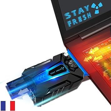 StayFresh - Ventilador PC Portátil - Edition 2017 Silence - Extractor Puissant de aire caliente USB - nuevo con silencioso (33 db): Amazon.es: Informática
