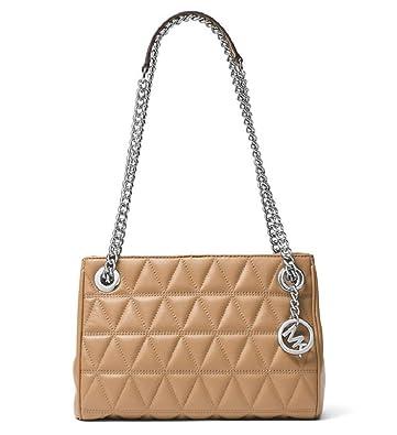 8ffc288807c8 Amazon.com: Michael Kors Scarlett Medium Quilted Leather Messenger Bag ,  Cashew: Shoes