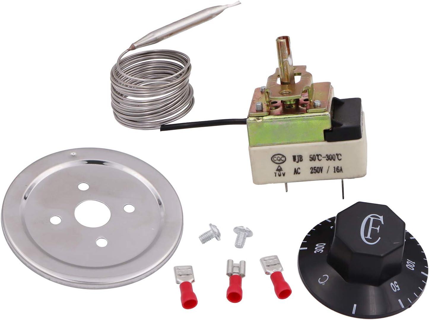 2m 50–300Degree F nuevo calentador termostato, sartén termostato, control de la temperatura, freidora eléctrica partes
