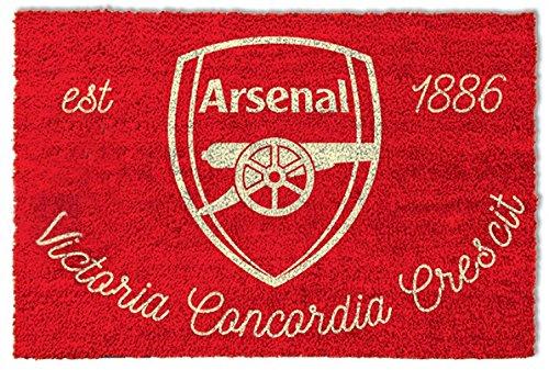 Football Door Mat Floor Mat - Fc Arsenal 1886, Crest (24 x 16 inches)