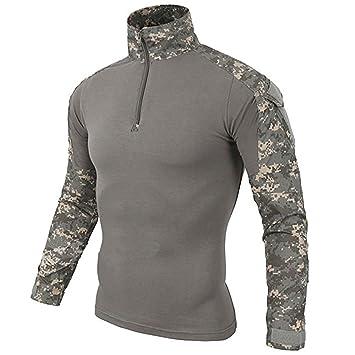 low priced 1d2e5 f263c LiliChan Herren Langarm Taktisches Militär T-Shirt Outdoor ...