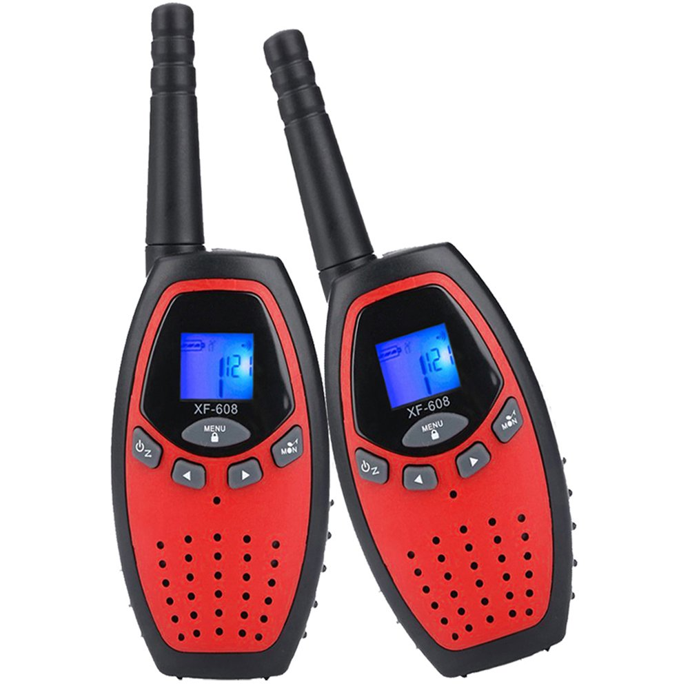 2X Walkie Talkies Mksutary Long Range Two-Way Radio Toy for for Kids Children Games,Green/Black ¡­