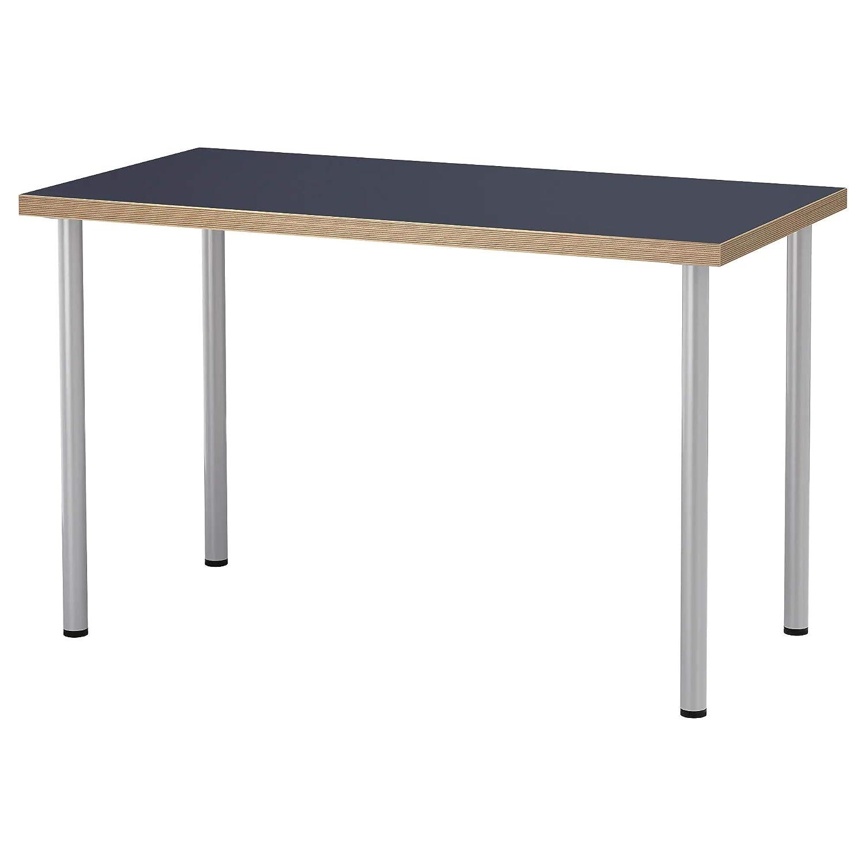 IKEA linnmon/adils Escritorio Mesa, Azul, Color Plata 120 x 60 cm ...