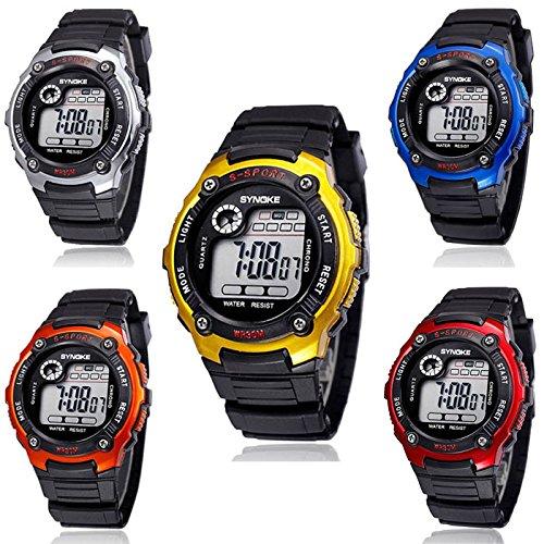 Nuevos relojes digitales ReadiMaxTM llega para niños relojes multifunción de deporte impermeable Reloj LED Reloj: Amazon.es: Joyería