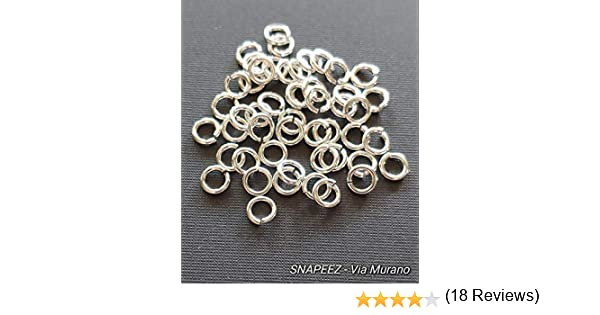 BeadaholiqueCA 10-Piece Sterling Jump Lock Rings 18-Gauge Silver 6mm