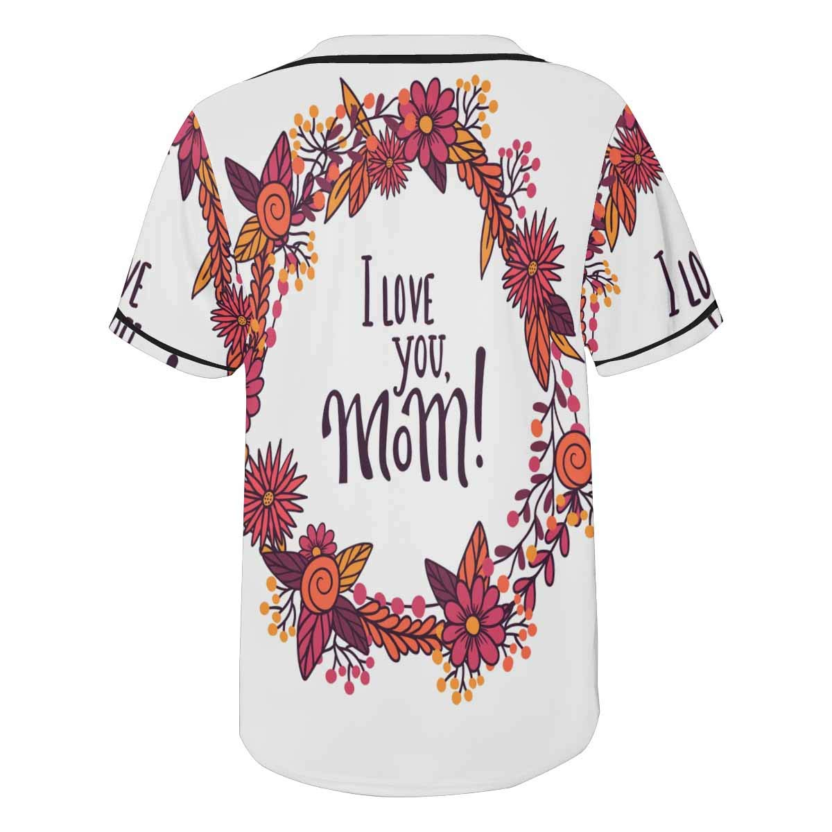 InterestPrint Lovable Sign to Mom Dad Iloveyou Mom Mens Baseball Jersey T Shirts