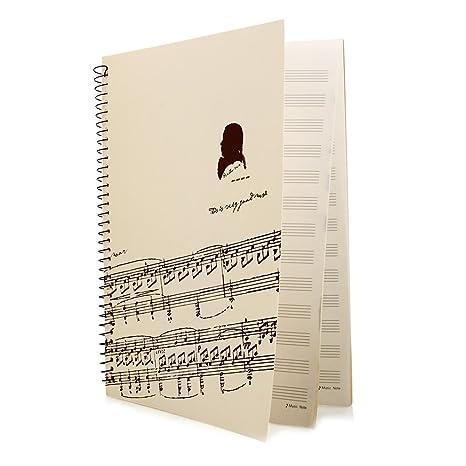 Cuaderno Libreta Notas Música Pentagrama 40 Páginas Papel