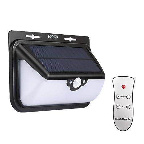 Solar luz, iCoco 68 LED lámpara de Sensor de movimiento mando a distancia, 800