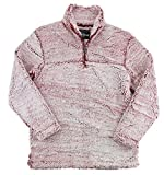 Boxercraft Youth Sherpa Pullover (Medium, Snowy Garnet)