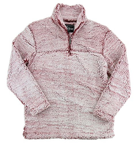 Boxercraft YOUTH Sherpa Pullover (Small, Snowy Garnet) by boxercraft