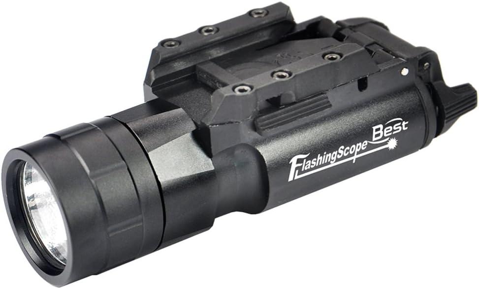 Táctica pistola pistola de linterna linterna pistola 420LM linterna resistente al agua con soporte de liberación rápida para senderismo, Camping, Caza y otros interior
