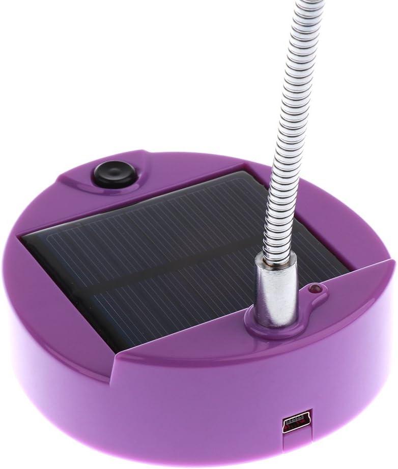 Blau Homyl Mini Flexible Solarbetrieben 8 LED Tischleuchte Schreibtischleuchte Tischlampe mit USB Kabel