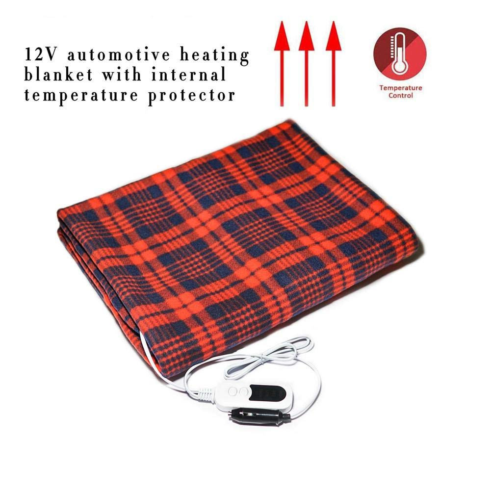 haptern White and Red Car Electric Blanket 12V Multifunctional Auto Shut Off Heated 59.06 39.37 Inch