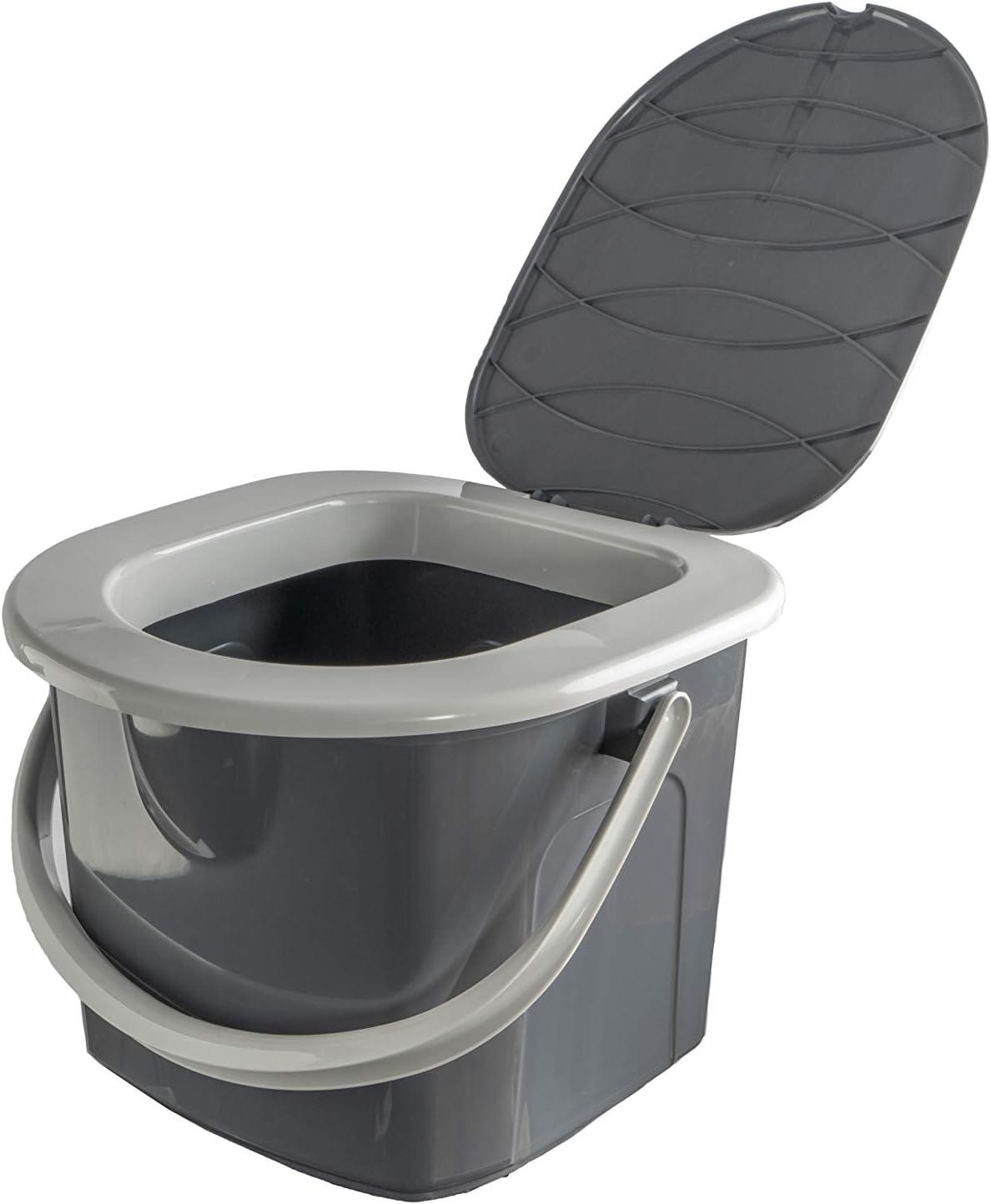 BRANQ Toilettes 15,5 litres de camping toilettes seau WC ...