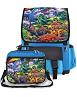 Kidaroo Dinosaur Jungle School Backpack & Lunchbox for Boys, Girls, Kids