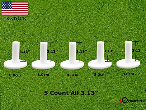 Golf Rubber Tees Driving Range Value 5 Pack, Mixed Size or 5 Same Size for Practice Mat (5 Pack All (3 Rubber Tees)