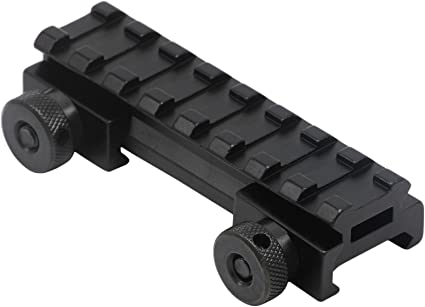"""Tactical See Through Flat Top 1/""""Riser Scope Mount for 20mm Picatinny Weaver Rail"""
