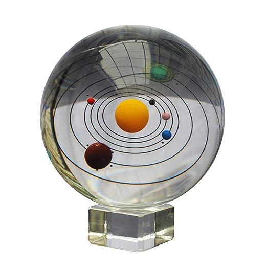 Galaxia de bola de cristal con soporte 3d láser sistema del ...