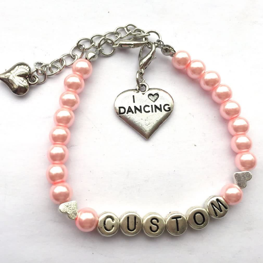 DOLON I Love Dancing Bracelet Dance Jewelry Gift for Dancers