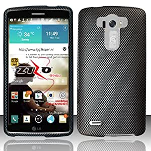 Windowcell Sales for Lg G3 - Rubberized Design Hard Snap-on Cover - Carbon Fiber Dp (Free Screen Protector)