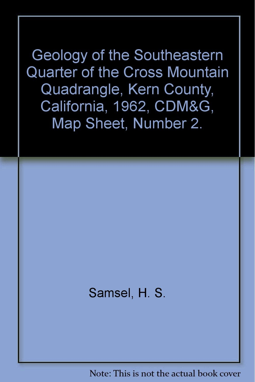 Geology of the Southeastern Quarter of the Cross Mountain Quadrangle on map of tehachapi mountains, map of san gabriel mountains, map of sierra madre mountains, map of los gatos mountains, map of southern california mountains,