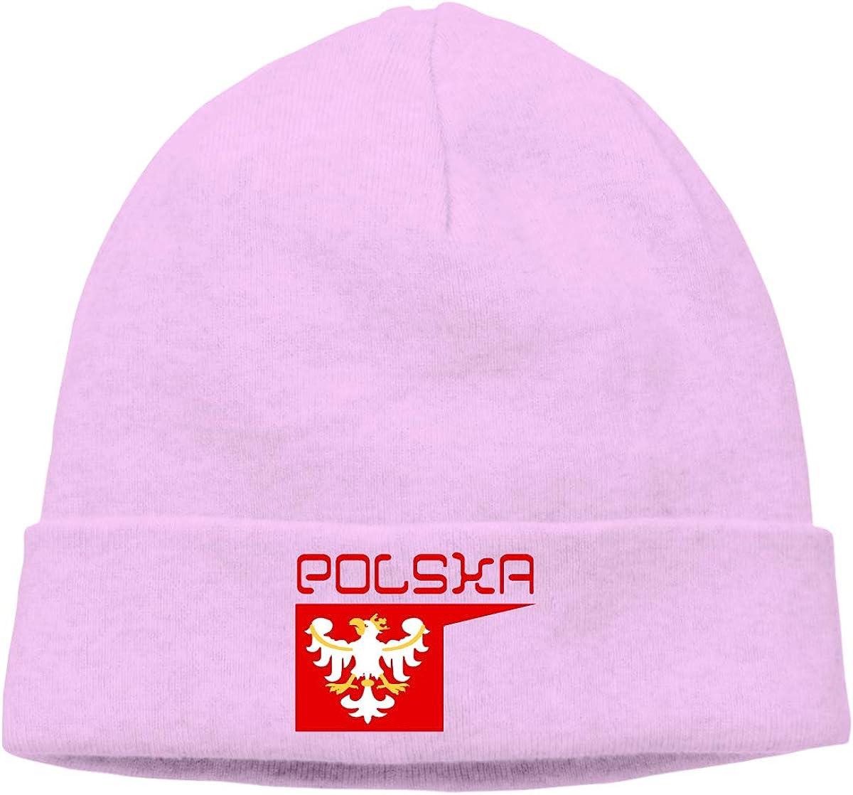 DFKD JKFD Unisex Knitted Hat Skull Hat Beanie Cap Polska Polish Flag