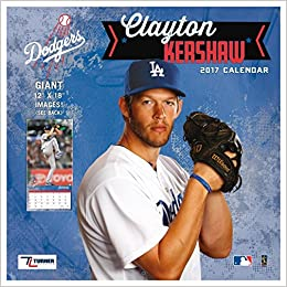 Los Angeles Dodgers Clayton Kershaw 2017 Calendar Lang Holdings Inc