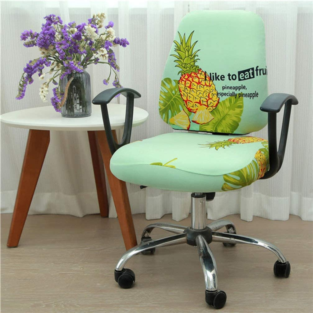 GBTRICON Universal Elastic Spandex Fabric Split Chair Back Cover+Seat Cover Anti-Dirty Office Computer Chair Cover Stretch Case 2 PCS