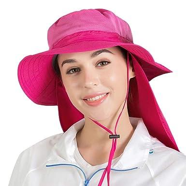 LOPILY Gorra de Sol de ala Ancha Sombrero de Mujer y Hombre Suave ...