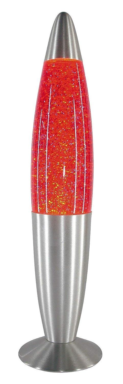 RABALUX 4113, lampada a stelo effetto glitter, vetro, Vetro Metallo, Orange, Grande, E14 25watts 4114