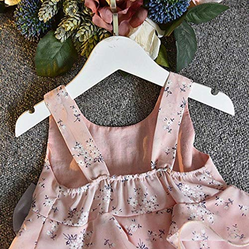 Goodtrade8 Toddler Baby Girl Solid Long Sleeve Bowknot Ruffle Lace Princess Dresses Outfit Clothes