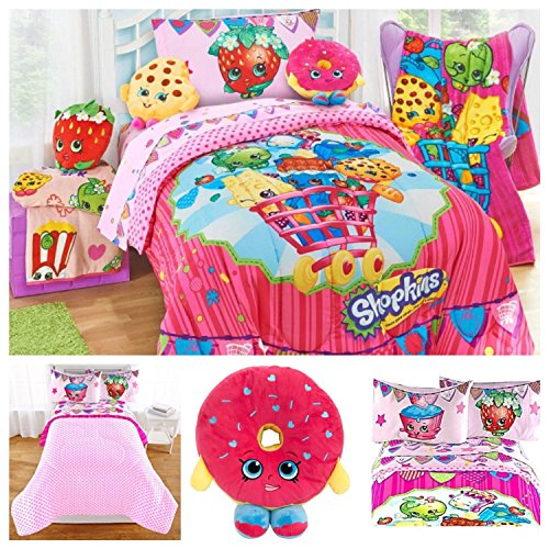 Shopkins Kids Complete Bedding Comforter Set with D'lish Donut Scented Pillow - Twin by Moose Shopkins