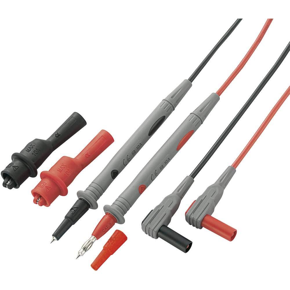 1,2m 4mm seguridad conectores Laboratorio messleitungen m hasta 10a//1000v rojo//negro