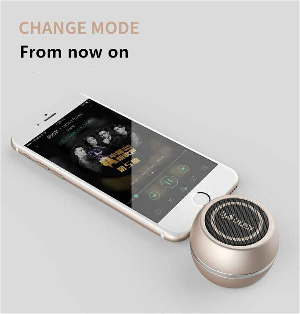 Rechargeable Portable Mobile Phone Speaker Green