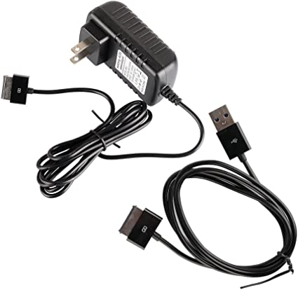 AC Wall Plug Charger+USB Data Sync Cable Cord for Asus Eee Pad Transformer TF101