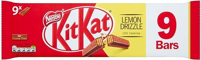 Image ofKit Kat Lemon Drizzle Paquete de barras de chocolate 187g