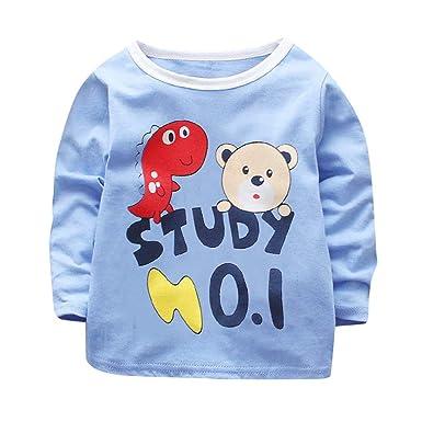 6836afa05a080 Amazon.com: Infant Toddler Girl Boy Fall Winter Clothes Sweatshirt 1 ...