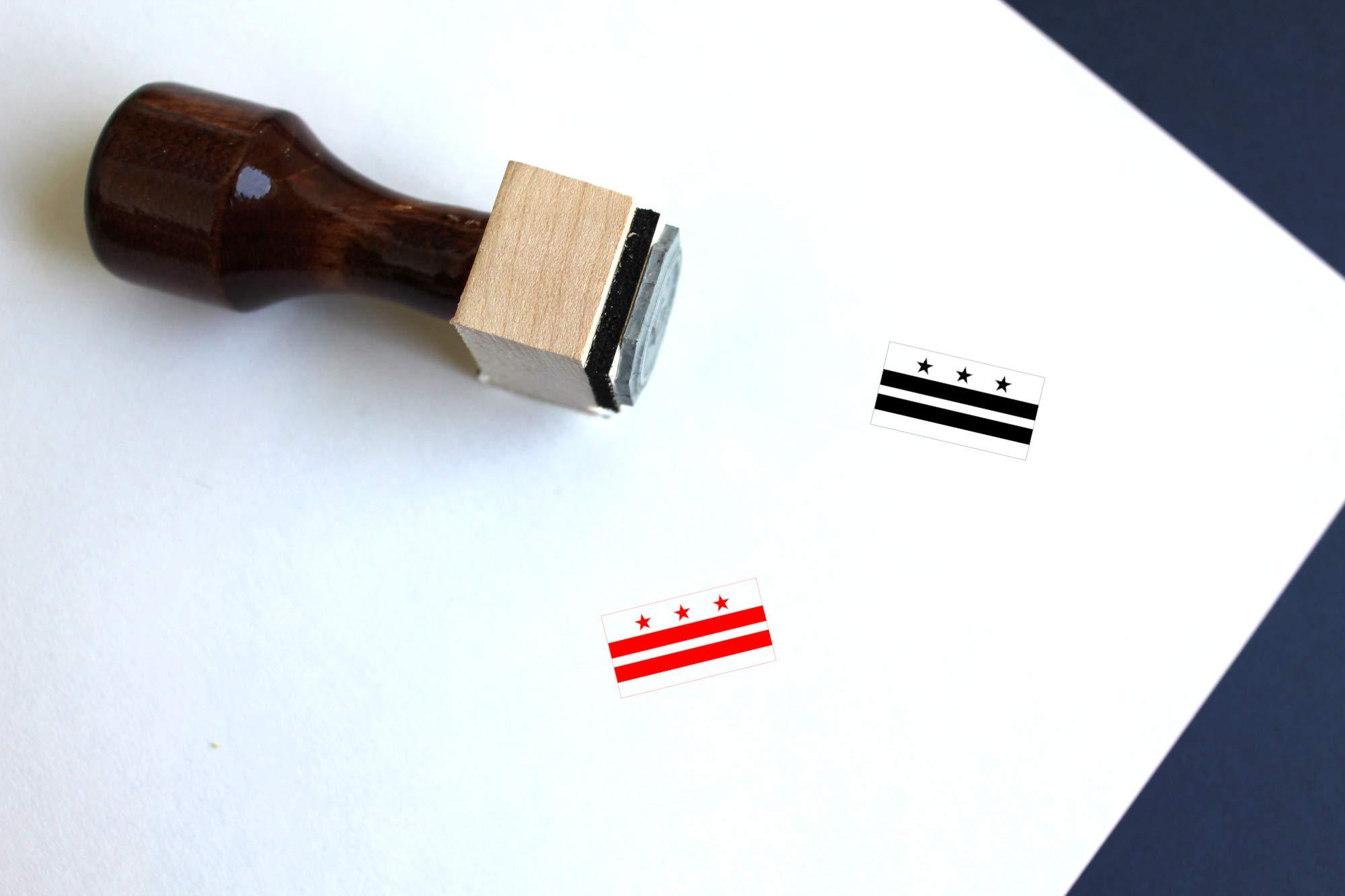 Washington DC Rubber Stamp (2.5'' x 2.5'')