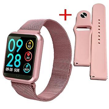 QKa Reloj Inteligente con Monitor De Ritmo Cardíaco, Control De ...